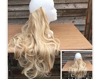 wavy layered halo extensions buy halo hair extensions etsy