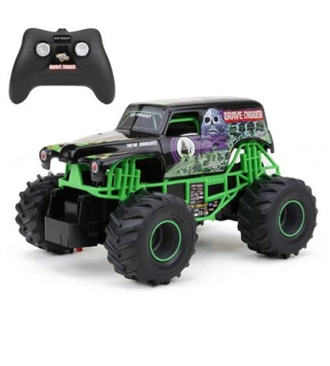 rc monster jam trucks for sale new bright f f monster jam grave digger rc car 1 24 scale