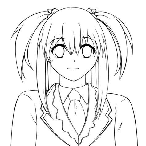 make coloring book pages in photoshop creating a vector anime character in adobe photoshop