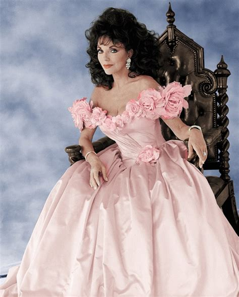 Joan Pink Dress joan collins goes the hammer in beverly