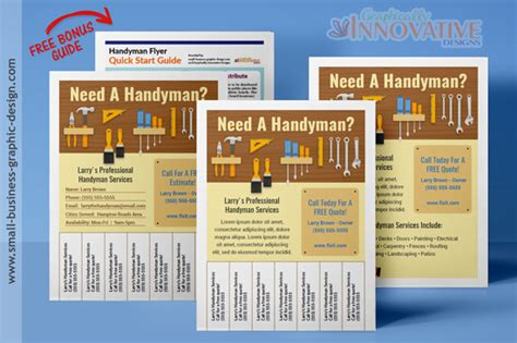 Best Handyman Flyers For Sale Handyman Ad Template