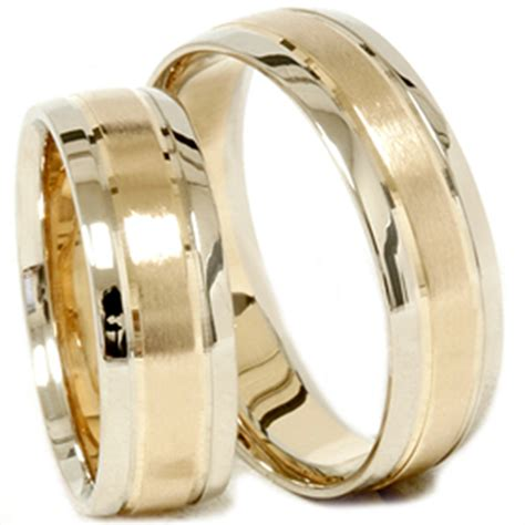 Set Twotone gold matching his hers two tone wedding ring band set ebay