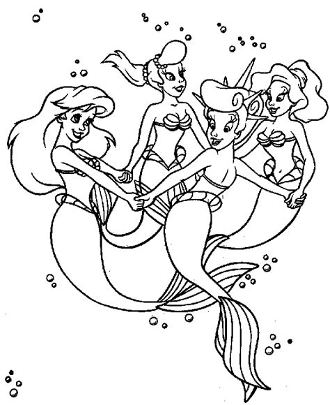 coloring pages of ariel and her sisters ariel and her sisters coloring pages az coloring pages