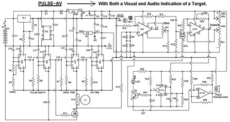 pulse induction detector circuit surfmaster pi metal detector schematic diagram electronic components