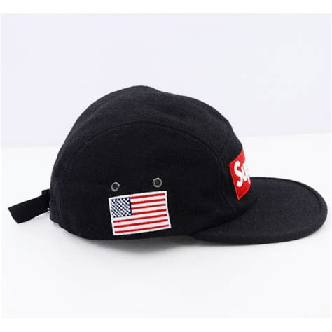 shop supreme hats supreme world wool strapback hat black