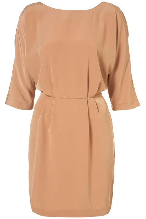 drape tunic dress topshop drape wing tunic dress in natural lyst