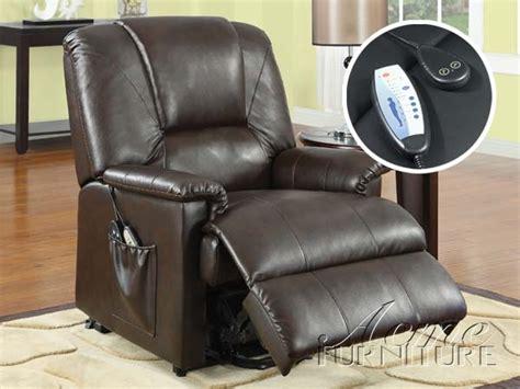 power massage recliner reseda massage power lift recliner brown by acme 10652