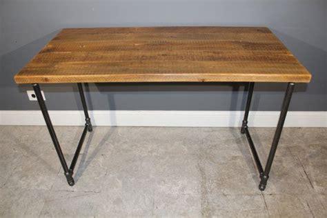 Gas Pipe Desk by Farm Wood Computer Desk W Endurovar Finish U Shaped Gas