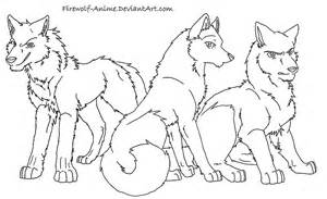 Wolf Drawings Anime Friends Sketch Coloring Page sketch template