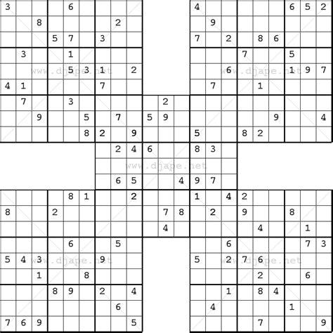 Printable Samurai Sudoku Download | samurai sudoku online free printable puzzles