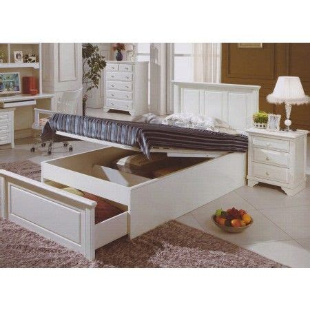 King Single Bed Frame With Storage Gogh King Single Bed Ivory White Storage Bed From