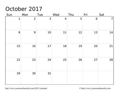 Calendar September 2017 October 2017 2017 October Calendar
