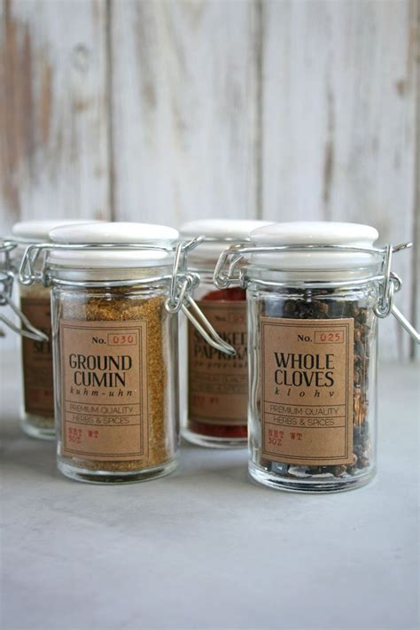 Glass Spice Jars With Labels 17 Best Ideas About Jar Labels On Spice Jars