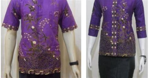 Dress Batik Tunic Batik Dahlia Series Murah model batik pasangan hem blus untuk baju seragam batik