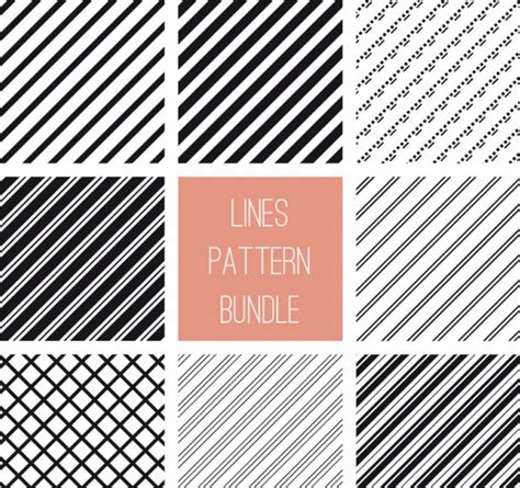 vector pattern bundle 22 line patterns textures photoshop patterns