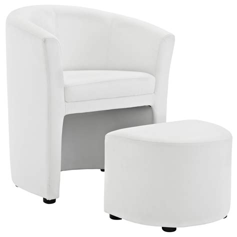white chair and ottoman sequence chair and ottoman set modern furniture