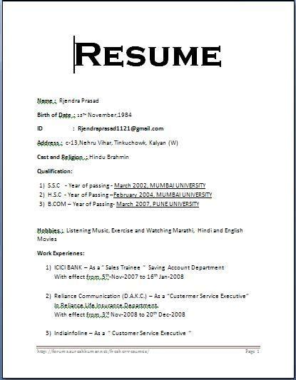 bio data resume sle 28 images bio data format for
