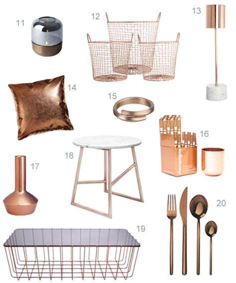 get the look 40 modern copper home accessories stylecarrot