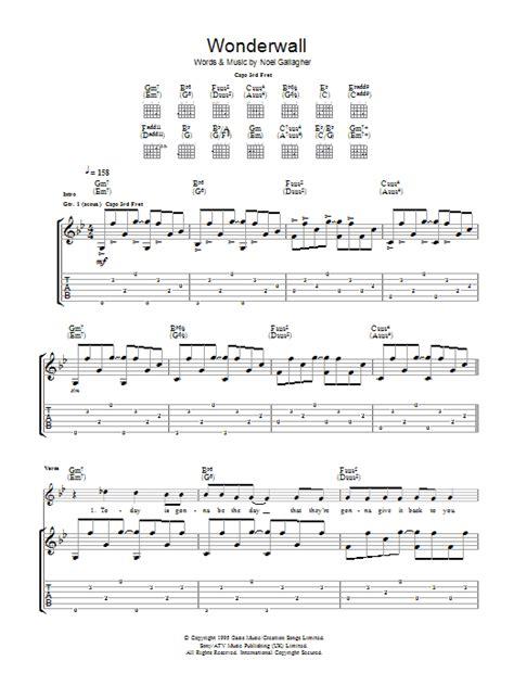 Wonderwall Guitar Chords Easy