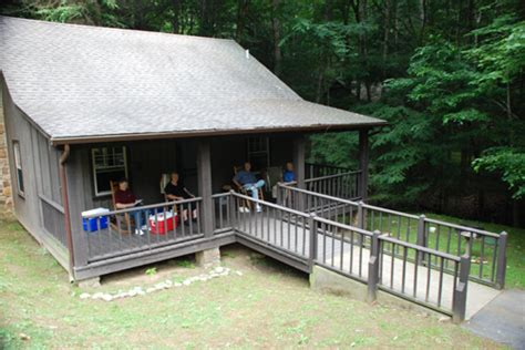 one of the rental cabins at roan mountain state park