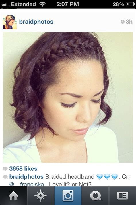 ways to weave a bang to short hair 25 best ideas about front braids on pinterest front