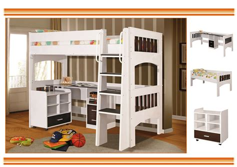 kids bed with desk miami king single loft bunk