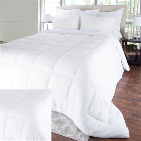 oversized down alternative comforter king bluestone oversized reversible white down alternative