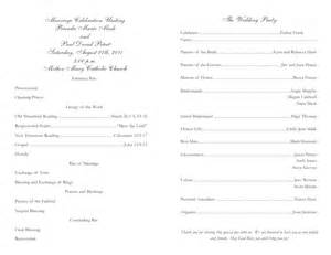 catholic wedding program template catholic wedding program template 2