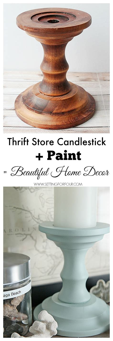 thrift store diy home decor painted candlesticks beautiful diy home decor setting