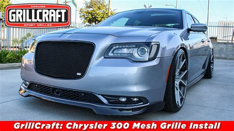 Custom Grills For Chrysler 300 by Grillcraft 2015 2017 Chrysler 300 Sw Grille Install