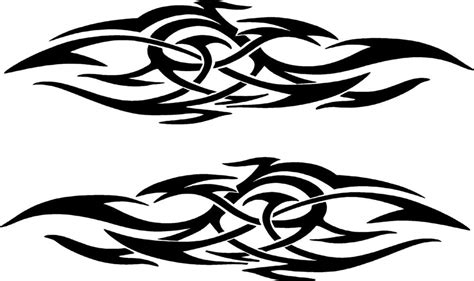 vehicle tribal flames vinyl decal sticker car truck boat