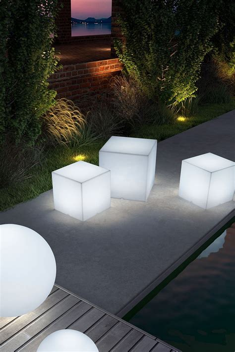 Outdoor Cube Lights Illuminated Light Cubes Great To Use Outdoors As Seating Stools Or Just Cool Lights D The