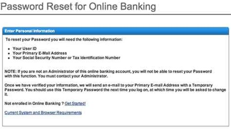 reset my online banking password harris online personal banking on www harrisbank com