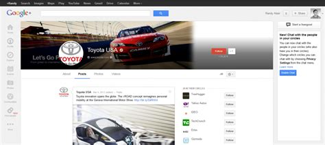 google toyota google page layout change cover photos are now 2120 x