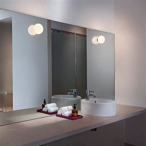 flos bathroom light flos mini glo c w mirror mounting f4190009 wall l