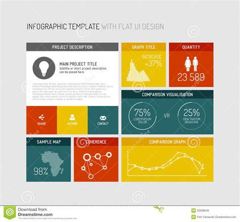 Vector Flat User Interface Infographic Stock Vector Illustration Of Option Elegant 32638646 Infographic Design Templates