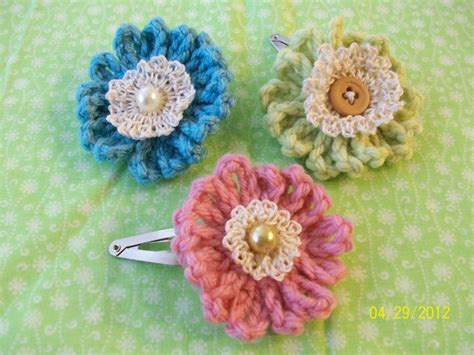 Handmade Crochet Flowers - handmade crochet flower hair ideas for to