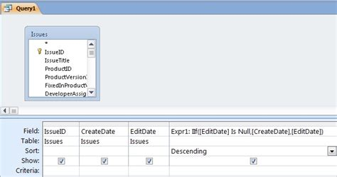 layout view is null in an iif function in access how do i assign null values