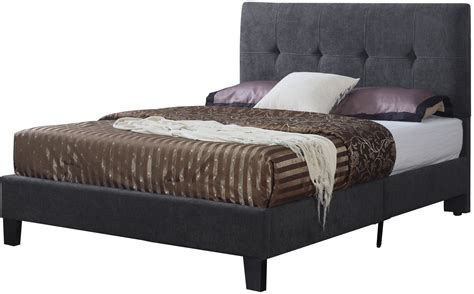 Upholstered Platform Bed King Charcoal King Upholstered Platform Bed From Emerald Home Coleman Furniture
