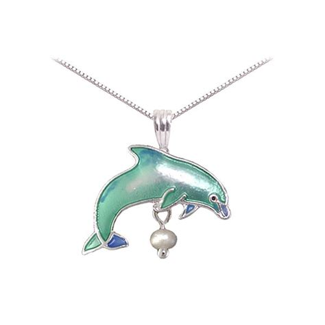 Dolphin Necklace beautiful pearl dolphin necklace
