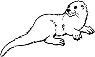 otter coloring pages otter 1 coloring page free printable coloring pages