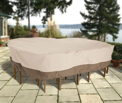 Patio Chair And Table Covers Covers by Table And Chair Cover Fits Rectangle Or Oval And 6