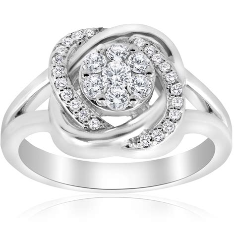 1 2 ct halo crossover engagement ring