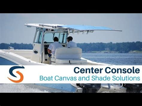 boat outrigger brands center console boat canvas and shade solutions youtube