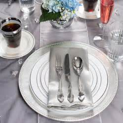 Wholesale Chair Sashes 10 25 Quot White Silver Rim Plastic Dinner Plate Smarty Had A Party