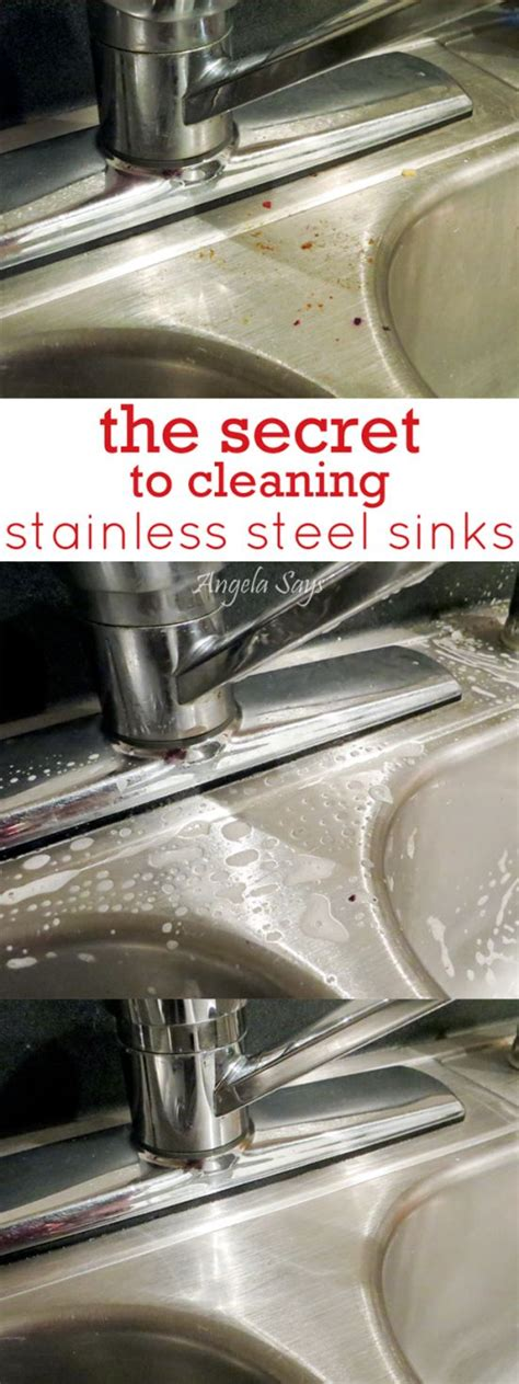 Stanlees Secret the secret to cleaning stainless steel sinks the secret