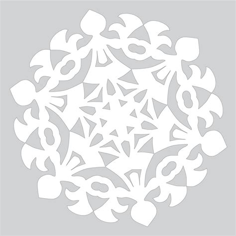 paper cut out pattern how to make paper snowflake with round dance pattern to