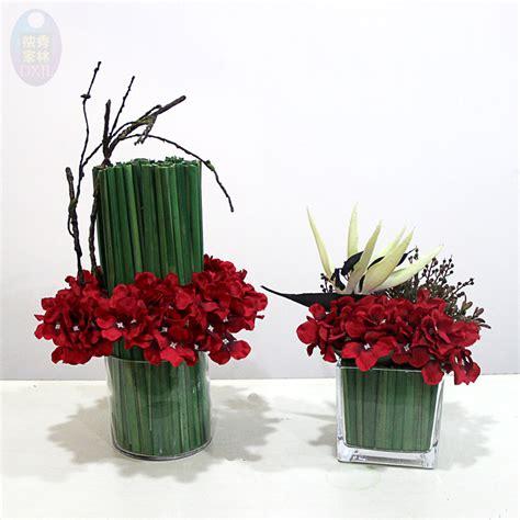 vasi con fiori finti composizioni fiori secchi in vasi di vetro vu66