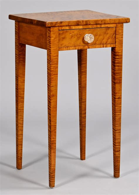 One Drawer Stand Lot 294 Tiger Maple One Drawer Stand