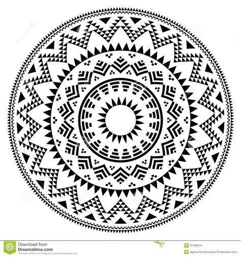 circle pattern in vector tribal folk aztec geometric pattern circle vector round